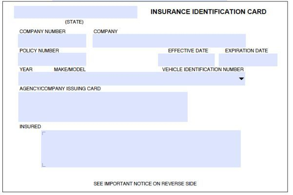 8 Blank Drivers License Template | Id Card Template, Card in Proof Of Insurance Card Template