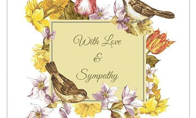 8 Free, Printable Sympathy Cards For Any Loss | Condolence with Death Anniversary Cards Templates