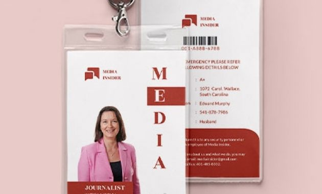 9+ Press Id Cards Templates | Examples intended for Media Id Card Templates