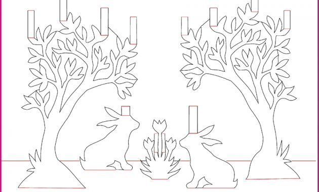 A Wonderful, Free Bunny Pop-Up Card Template | Pop Up Card in Pop Up Tree Card Template