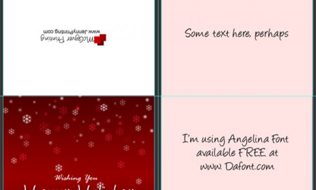 A2 Size Half Fold Greeting Card Cover Actions   Cover throughout A2 Card Template