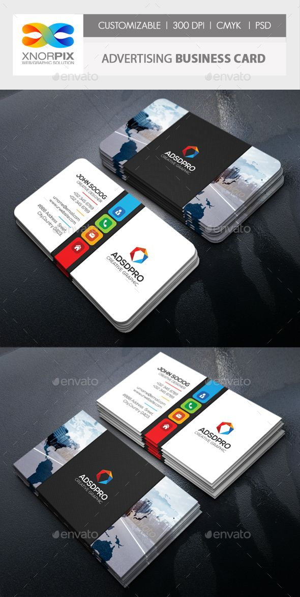 Advertising Business Card | Business Cards Creative pertaining to Advertising Cards Templates