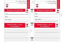 American Red Cross Emergency Contact Card – An Emergency inside Emergency Contact Card Template