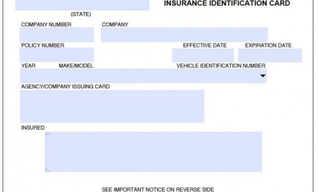 Auto Insurance Card Template Pdf ~ Addictionary throughout Fake Car Insurance Card Template