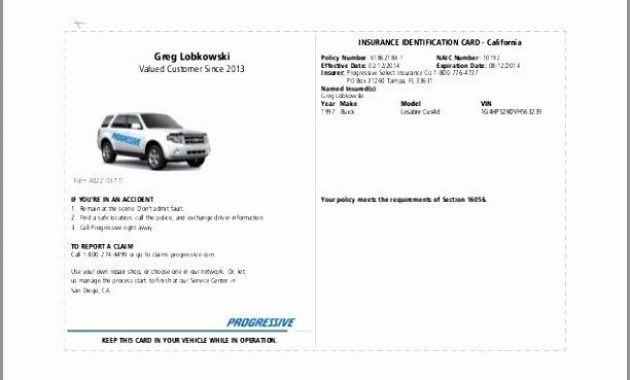 Auto Insurance Card Template Pdf Fresh Illinois Fake in Fake Car Insurance Card Template