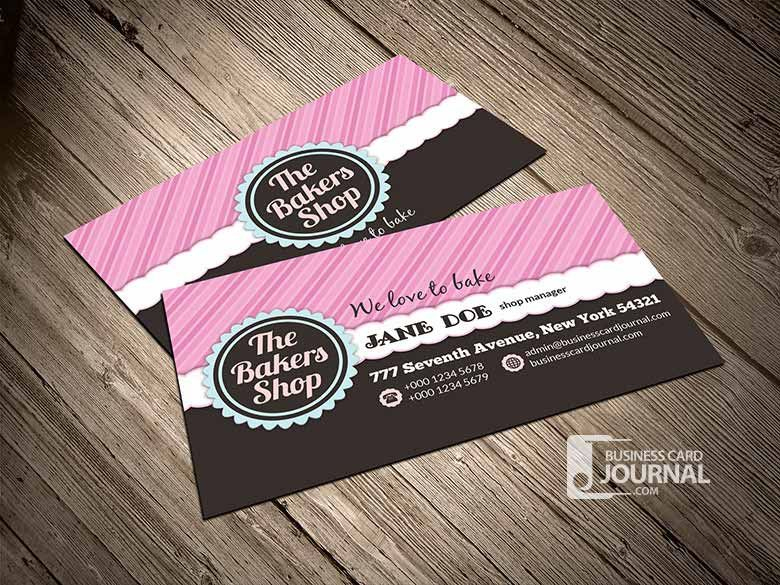 Bakery Business Cards Templates – Free Download At inside Cake Business Cards Templates Free