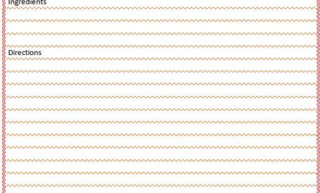 Blank Recipe Card Template – Microsoft Word Templates intended for Restaurant Recipe Card Template