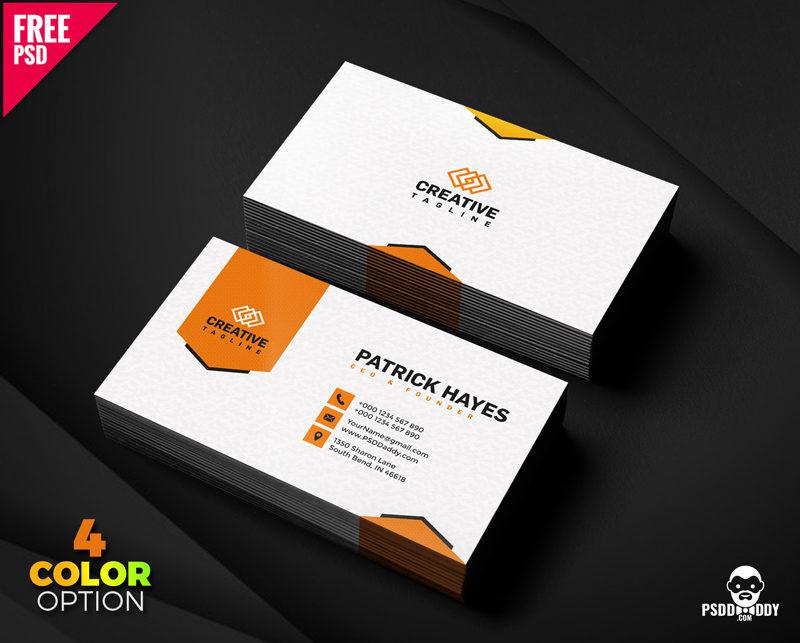 Business Card Design Free Psd Set | Psddaddy Inside Psd Visiting Card Templates