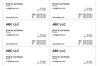 Business Card Templates For Word for Business Cards Templates Microsoft Word