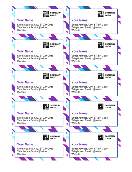Business Cards (Red Design, 10 Per Page) With Regard To Business Cards Templates Microsoft Word