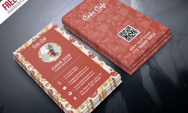 Cake Shop Business Card Psd Template | Psdfreebies intended for Cake Business Cards Templates Free