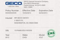 Car Insurance Cards Printable Car Insurance Cards Templates throughout Proof Of Insurance Card Template