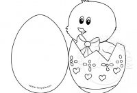 Chick In Egg Card Coloring Page | Easter Template within Easter Chick Card Template