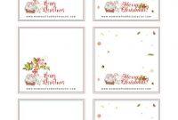 Christmas Table Printables Menu Placecards Holiday throughout Christmas Table Place Cards Template