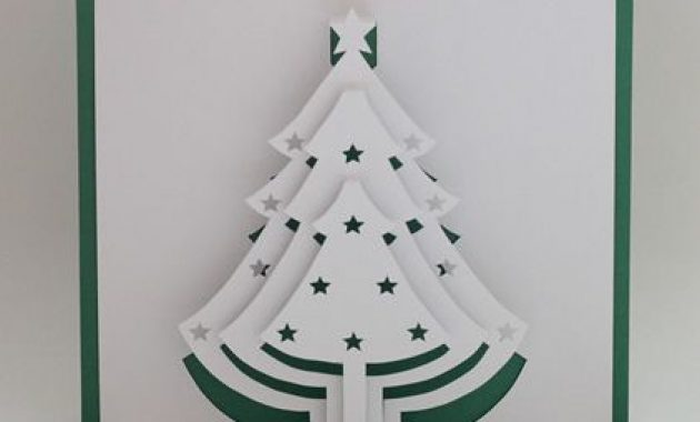 Christmas Tree Popup Card | Pop Up Christmas Cards, 3D Pertaining To 3D Christmas Tree Card Template