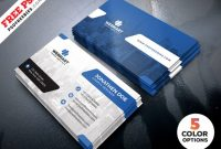 Clean Business Card Templates Psd - Free Download | Arenareviews with Free Psd Visiting Card Templates Download