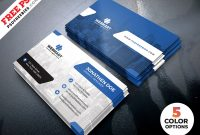 Clean Business Card Templates Psd – Uxfree With Psd Name Card Template