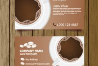 Coffee Shop Business Card Free Vector Download (27,306 Free intended for Coffee Business Card Template Free