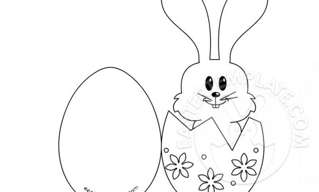 Craft A Easter Bunny Card | Easter Template for Easter Chick Card Template