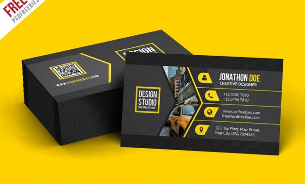 Creative Black Business Card Template Psd | Psdfreebies intended for Psd Visiting Card Templates