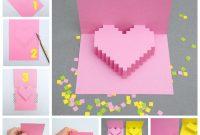 Creative Ideas – Diy Pixel Heart Popup Card pertaining to Pixel Heart Pop Up Card Template