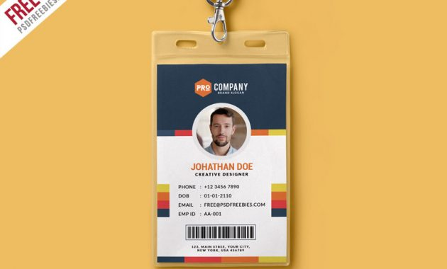 Creative Office Identity Card Template Psd | Psdfreebies intended for Media Id Card Templates