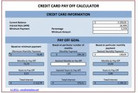 Credit Card Payoff Calculator throughout Credit Card Interest Calculator Excel Template