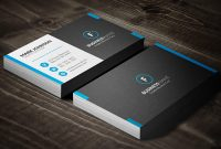 Dark Mosaic Professional Business Card Template » Free Within Professional Name Card Template