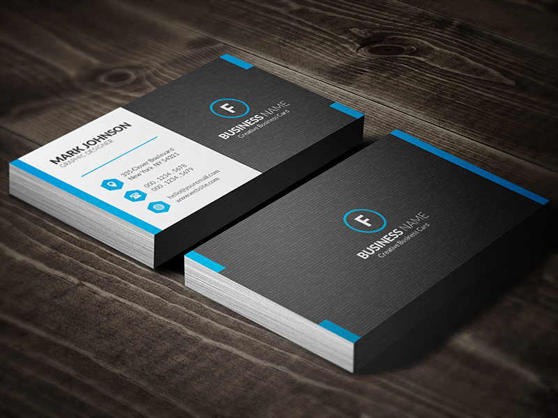 Dark Mosaic Professional Business Card Template » Free Within Professional Name Card Template