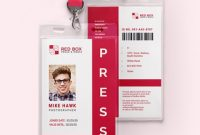 Download 7+ Press Id Card Templates – Word (Doc) | Psd within Media Id Card Templates