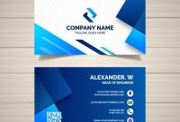 Download Business Card Template With Geometric Shapes For pertaining to Free Bussiness Card Template