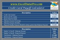 Download Credit Card Payoff Calculator Excel Template with regard to Credit Card Interest Calculator Excel Template