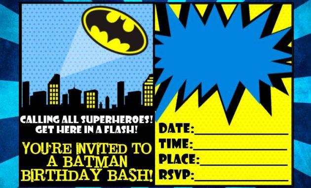 Download Now Free Printable Batman Birthday Invitations throughout Batman Birthday Card Template