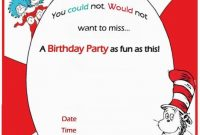 Dr Seuss Birthday Invitation Free Template | Invitations intended for Dr Seuss Birthday Card Template