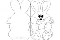 Easter Bunny Card Coloring Page – Easter Template | Easter in Easter Chick Card Template