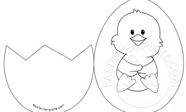 Easter Chick Card Template Easter Chick Egg – The Easter throughout Easter Chick Card Template