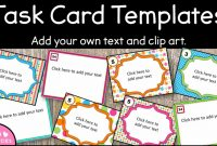 Editable Task Card Templates – Bkb Resources with regard to Task Cards Template