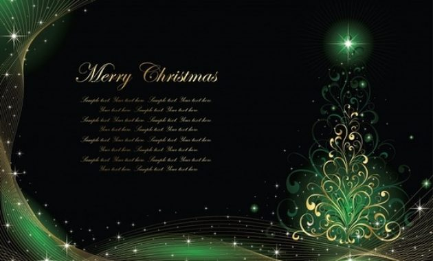 Elegant Christmas Card Free Vector Download (24,429 Free inside Christmas Photo Cards Templates Free Downloads