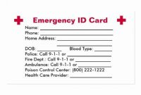 Emergency Card Template Beautiful Emergency Id Card Business throughout Emergency Contact Card Template