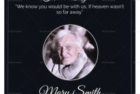 Eulogy Funeral Invitation Card Template | Memorial Cards For in Death Anniversary Cards Templates