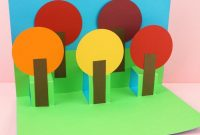 Fall Pop Up Tree Card – Easy Paper Craft For Kids! regarding Pop Up Tree Card Template