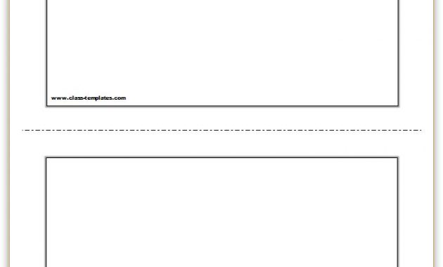Flash Card Template Within Word Cue Card Template