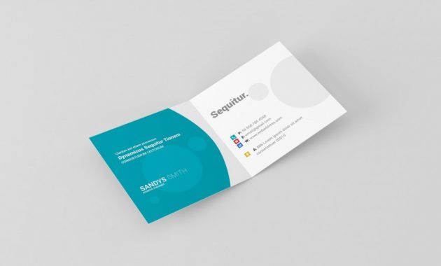 Folded Business Card Templates ~ Addictionary with Foldable Card Template Word