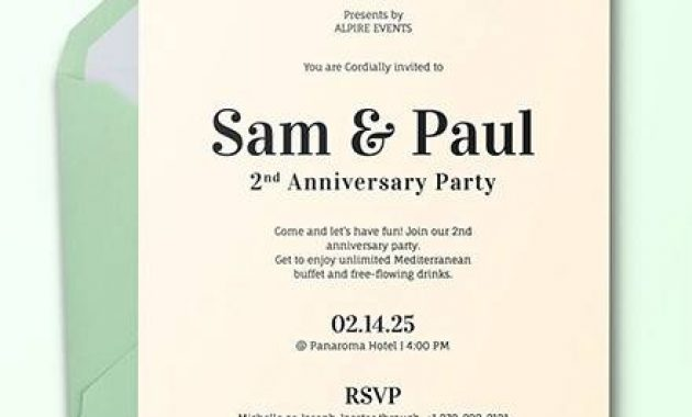 Free 13+ Sample Amazing Anniversary Invitation Templates In within Death Anniversary Cards Templates