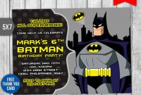 Free 4+ Batman Invitation Designs In Vector Eps | Ai regarding Batman Birthday Card Template
