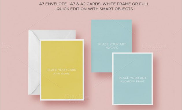Free 7+ Sample A2 Envelope Templates In Ms Word   Pdf regarding A2 Card Template