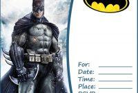 Free Batman Party Invitation Template | Batman Invitations within Batman Birthday Card Template