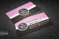 Free Beautiful & Fancy Bakery Shop Business Card Template inside Cake Business Cards Templates Free