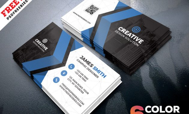 Free Business Cards Templates Psd Bundle | Psdfreebies for Free Bussiness Card Template