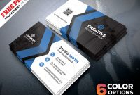Free Business Cards Templates Psd Bundle | Psdfreebies in Psd Name Card Template